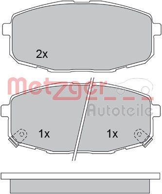 23988 METZGER Vorderachse, mit akustischer Verschleißwarnung, mit Anti-Quietsch-Blech Höhe: 58mm, Breite: 130,2mm, Dicke/Stärke: 16,8mm Bremsbelagsatz, Scheibenbremse 1170097 günstig kaufen