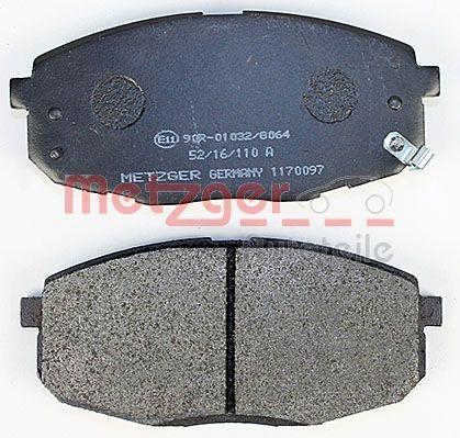 1170097 Bremsbeläge METZGER 23987 - Große Auswahl - stark reduziert