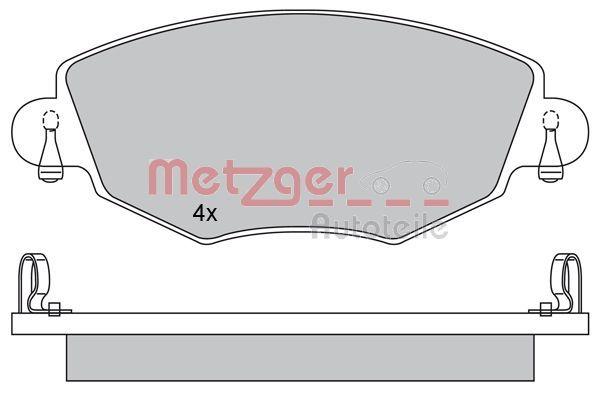 Bremsbelagsatz METZGER 1170107