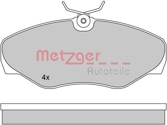 Original OPEL Bremsbelagsatz Scheibenbremse 1170110