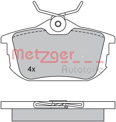 Original SMART Bremsbelagsatz Scheibenbremse 1170118
