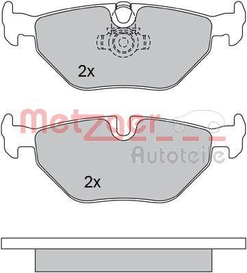 Bremsbelagsatz METZGER 1170120