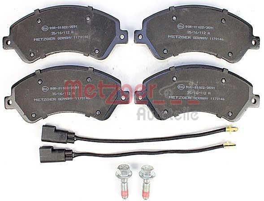 Bremsbelagsatz METZGER 1170146