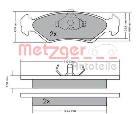 Bremssteine METZGER 1170181