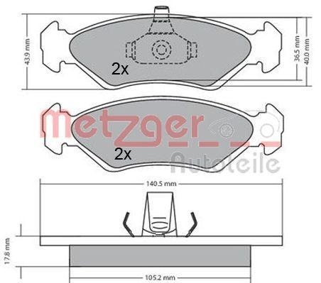 Bremsbeläge METZGER 1170182