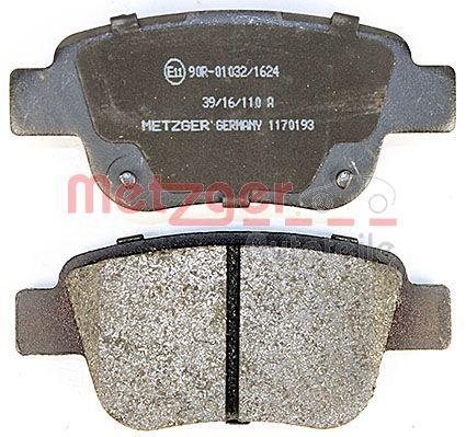 1170193 Bremsbelagsatz METZGER - Markenprodukte billig