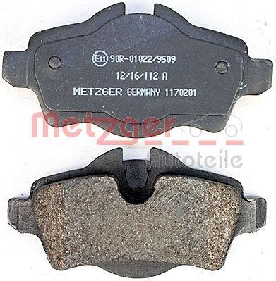 1170201 Bremsbelagsatz METZGER - Markenprodukte billig