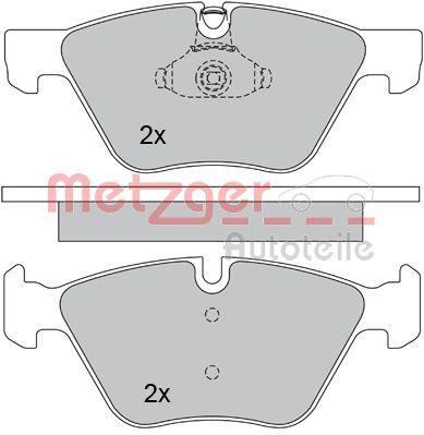 Bremsbelagsatz METZGER 1170203