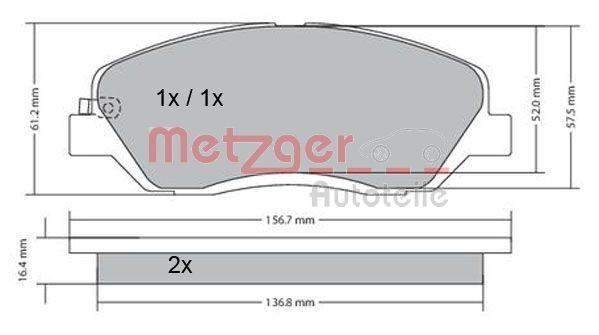 Bremssteine METZGER 1170205