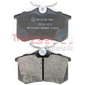 1170207 Bremsbelagsatz METZGER - Markenprodukte billig