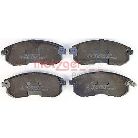 21562 METZGER Vorderachse, mit akustischer Verschleißwarnung, mit Anti-Quietsch-Blech Höhe: 53mm, Dicke/Stärke: 17,3mm Bremsbelagsatz, Scheibenbremse 1170208 günstig kaufen
