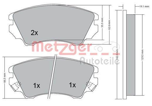 Original OPEL Bremsbelagsatz 1170221