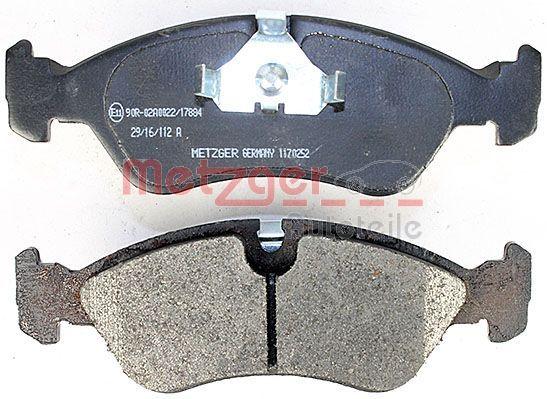 1170252 Bremsbeläge METZGER 21190 - Große Auswahl - stark reduziert