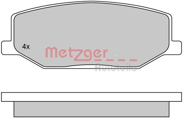 21142 METZGER Vorderachse, exkl. Verschleißwarnkontakt Höhe: 41,5mm, Breite: 110,4mm, Dicke/Stärke: 15mm Bremsbelagsatz, Scheibenbremse 1170259 günstig kaufen