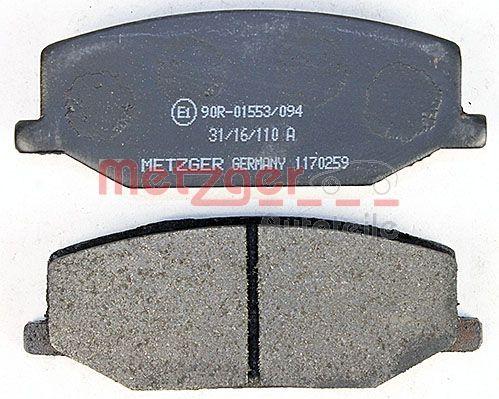 1170259 Bremsbeläge METZGER 1170259 - Große Auswahl - stark reduziert
