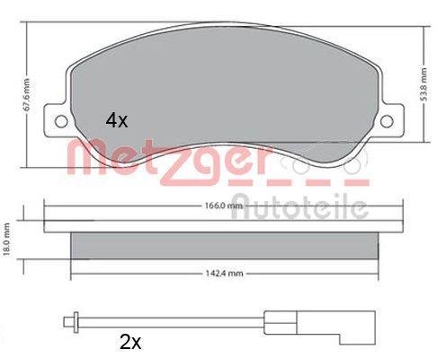 Bremsklötze METZGER 1170290