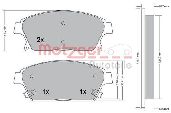 Bremsbelagsatz METZGER 1170292