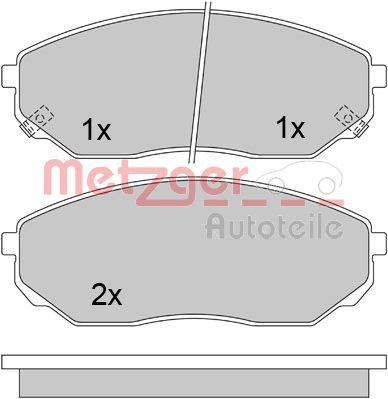 Bremsbelagsatz METZGER 1170297