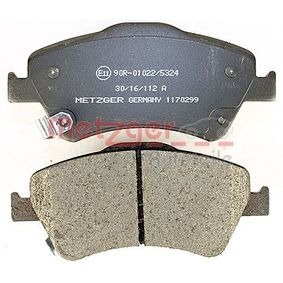 1170299 Bremsbeläge METZGER 24590 - Große Auswahl - stark reduziert