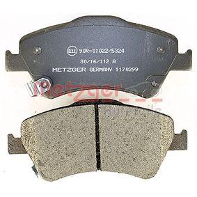 1170299 Bremsbelagsatz METZGER - Markenprodukte billig