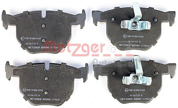 Bremsbelagsatz Scheibenbremse METZGER 1170318