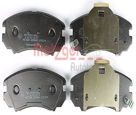 Bremsbelagsatz METZGER 1170379