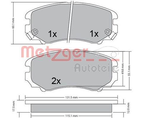 Original KIA Bremsbelagsatz 1170379