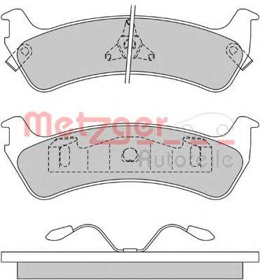 Original FORD USA Bremsbelagsatz Scheibenbremse 1170434