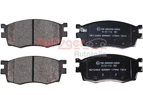 Scheibenbremsbeläge METZGER 1170441