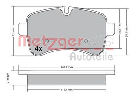 Original IVECO Bremsbelagsatz 1170466