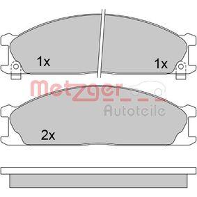 21349 METZGER Vorderachse, mit akustischer Verschleißwarnung Höhe: 49,5mm, Dicke/Stärke: 17mm Bremsbelagsatz, Scheibenbremse 1170488 günstig kaufen