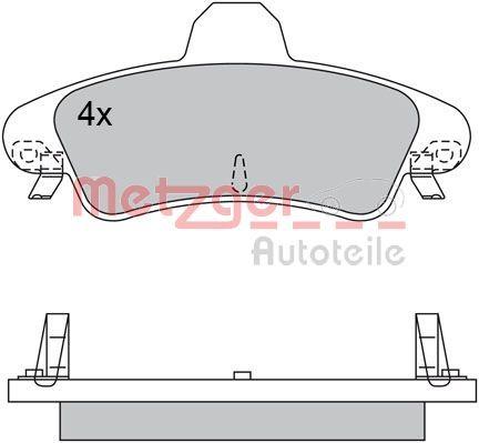 Bremsbelagsatz Scheibenbremse METZGER 1170531