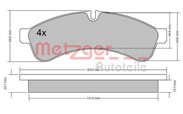 Original IVECO Bremsbelagsatz Scheibenbremse 1170544