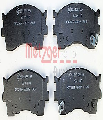 Bremsbelagsatz METZGER 1170548