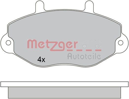 Scheibenbremsbeläge METZGER 1170629
