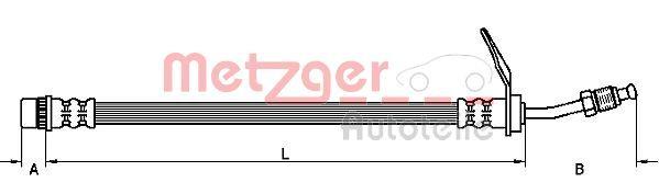 Original OPEL Bremsschläuche 4110211