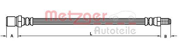 Original FIAT Bremsschlauch 4110315