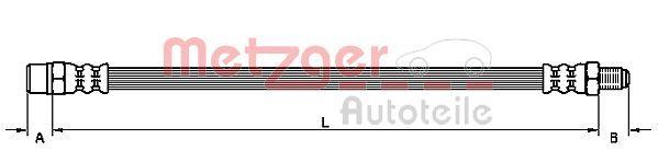 Bremsschläuche METZGER 4110951