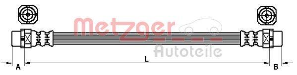 Bremsschlauch METZGER 4110952