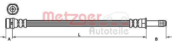 Bremsschlauch METZGER 4111218