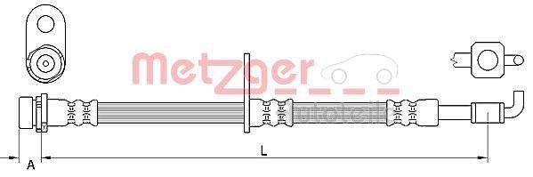 Bremsschläuche METZGER 4111332