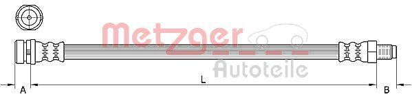 Bremsschlauch METZGER 4111333