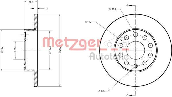 OE Original Bremsscheiben 6110030 METZGER