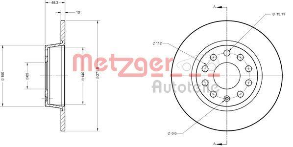 VW Disque d'Origine 6110108
