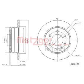 6110179 METZGER Voll, beschichtet, mit Sicherungsschraubensatz Ø: 298mm, Lochanzahl: 6, Bremsscheibendicke: 16mm Bremsscheibe 6110179 günstig kaufen