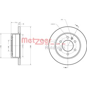 6110179 Bremsscheiben METZGER 6110179 - Große Auswahl - stark reduziert