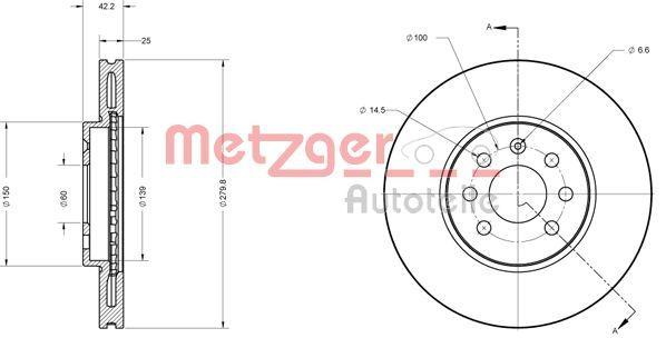 METZGER Bremsscheibe 6110193