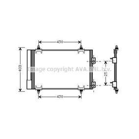 Achat de CI424C002 PRASCO avec déshydrateur Réfrigérant: R 134a Condenseur, climatisation CNA5231D pas chères