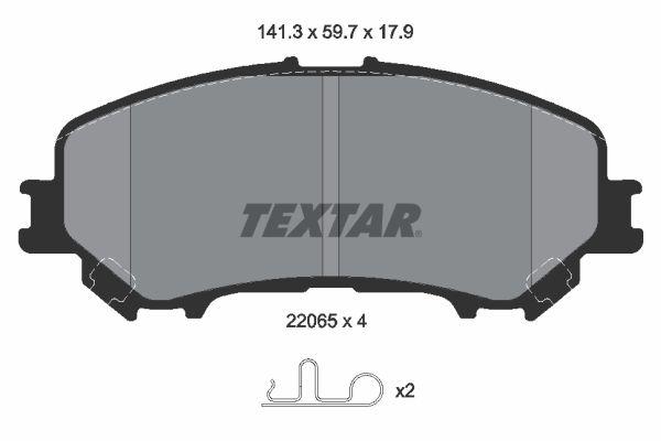 Bremsbelagsatz TEXTAR 2206501