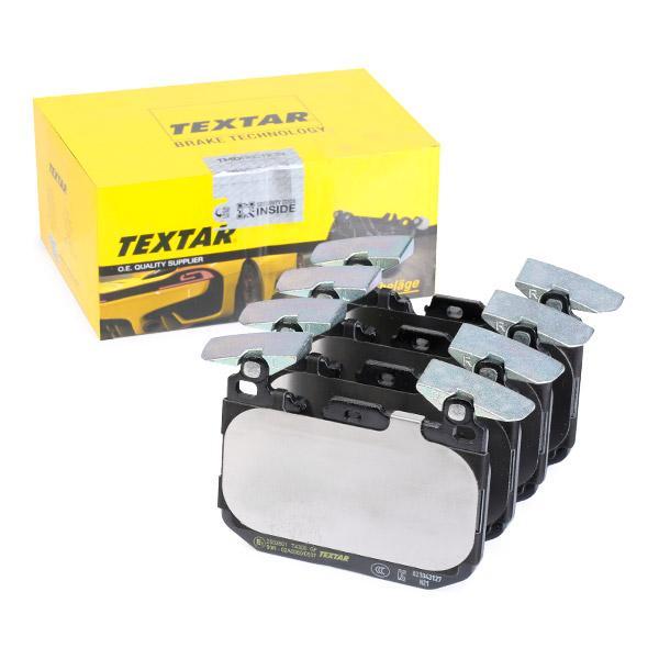 8991D1609 TEXTAR für Verschleißwarnanzeiger vorbereitet, mit Ausgleichsgewichten Höhe: 91,2mm, Breite: 114,8mm, Dicke/Stärke: 18,2mm Bremsbelagsatz, Scheibenbremse 2502801 günstig kaufen